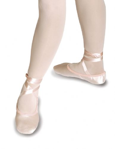 Roch Valley 2SS/S PINK Split sole satin ballet shoes
